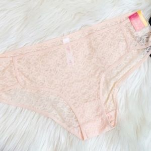 Feather Peach Lace Panties